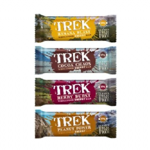 Mixed Flavour - Trek Protein Energy Bars - No Added Sugar Gluten & Wheat Free 55g